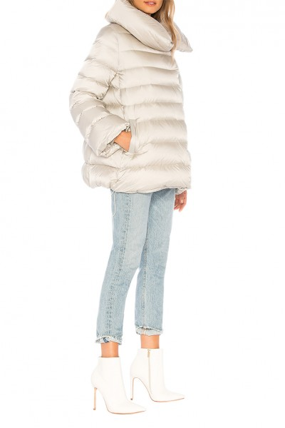 Add - Women's Feather Cape Down Jacket - Pearl