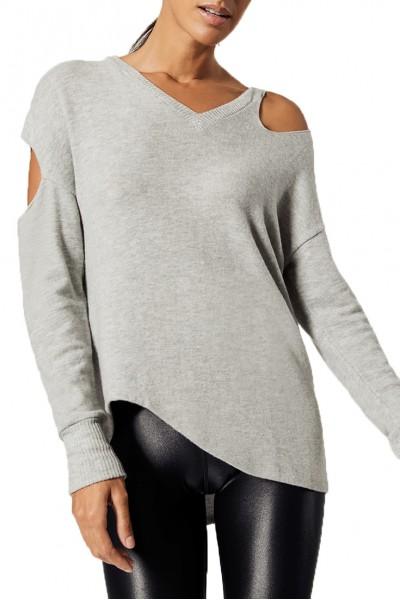 LNA - Women's Brushed Sky Sweater - Grey