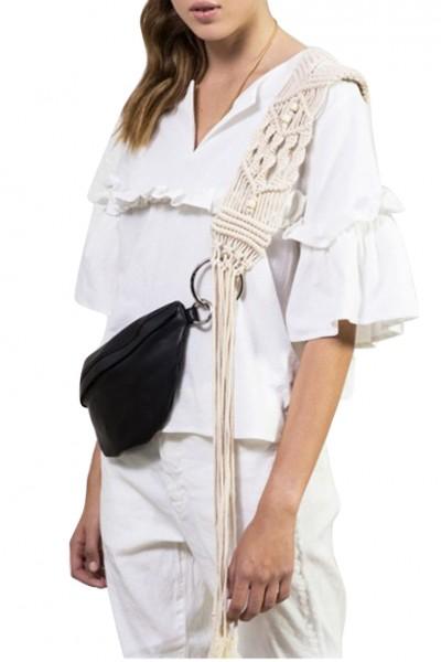 Sack's - Women's Akila Ruffled Sleeve Blouse - White