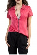 Sack's - Women's Kyla Crochet polo shirt - Red