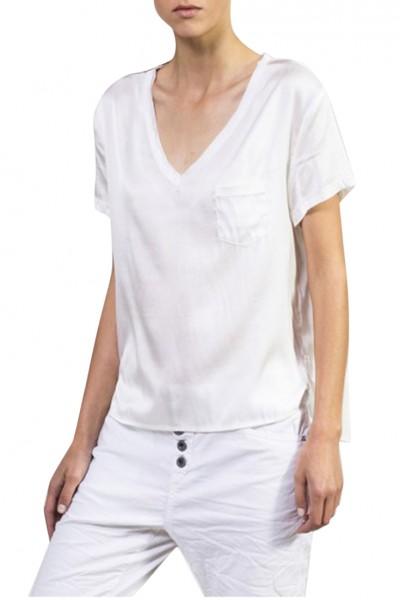 Sack's - Women's Moira Pocket T Shirt - White