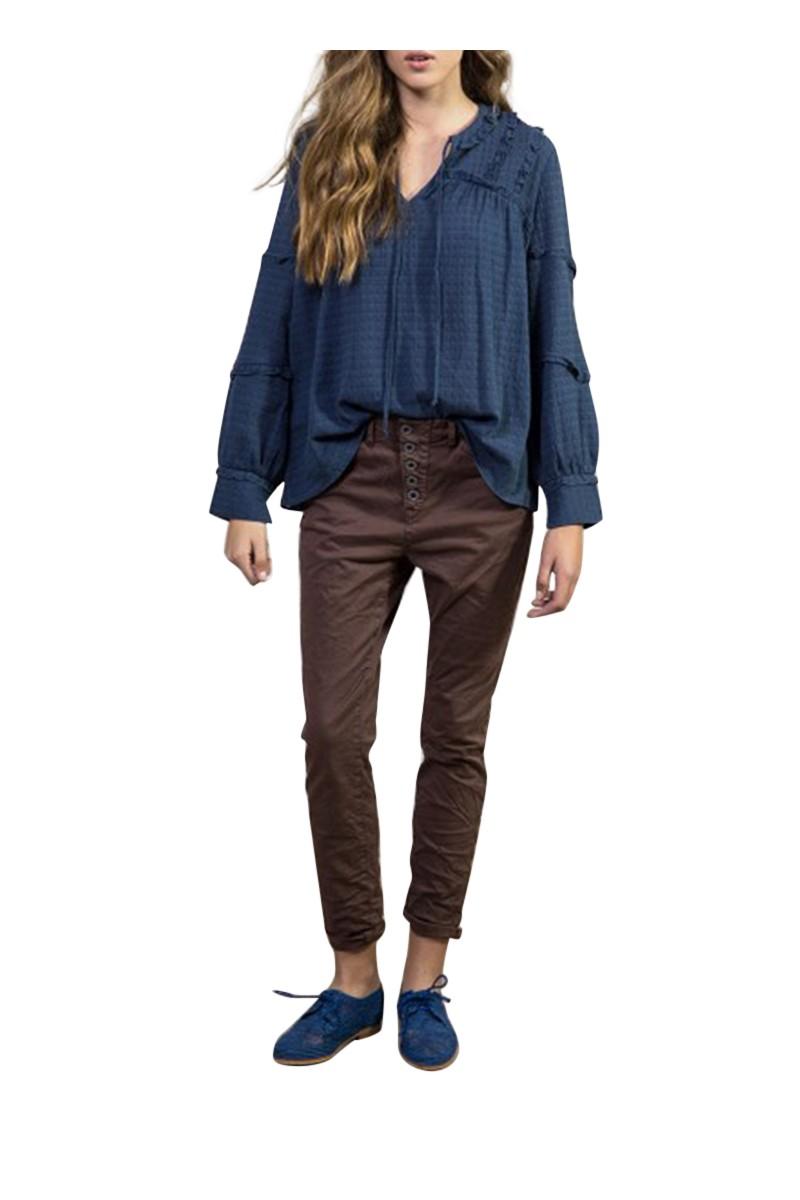 Sack's - Women's Jad Cotton Comb Loose Pants - Brown