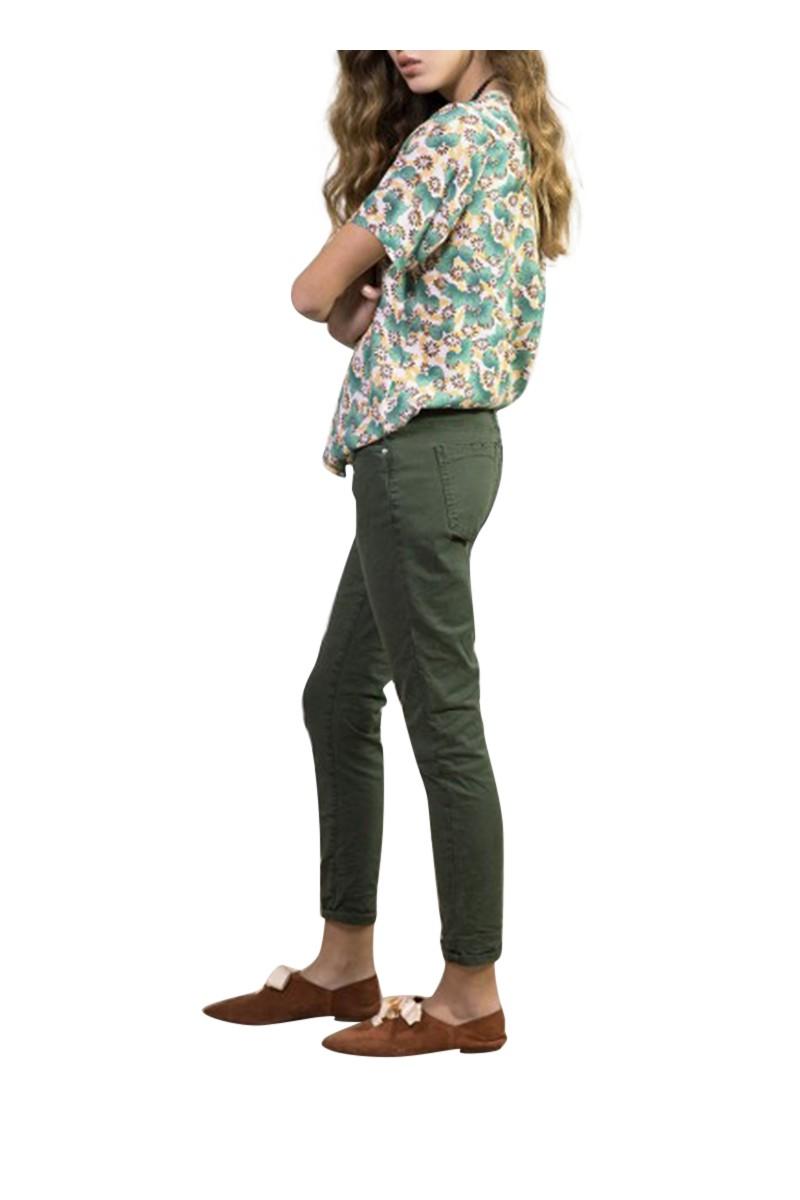 Sack's - Women's Jad Cotton Comb Loose Pants - Dark Green