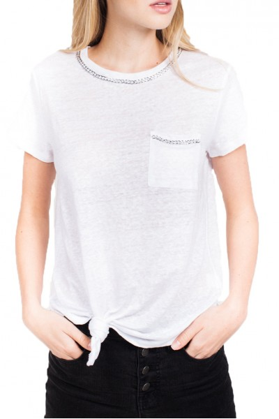 Generation Love - Women's Billie Chain Top - White
