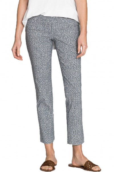 Nic+Zoe - Blue Hatching Pant - Multi