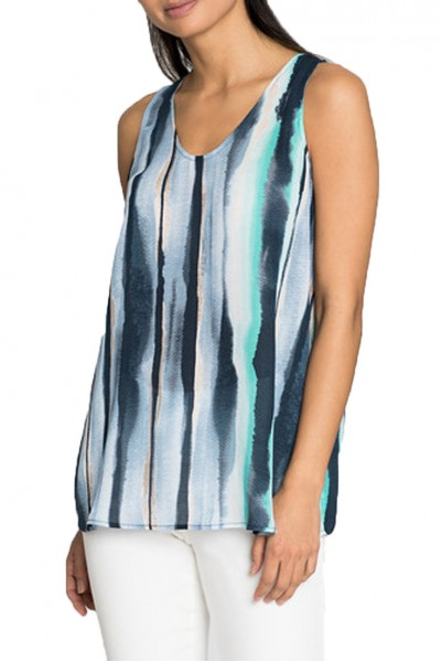 Nic+Zoe - Sea Stripe Tank - Multi
