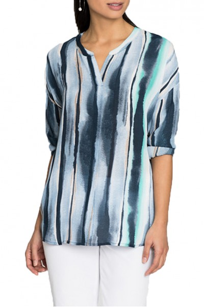 Nic+Zoe - Sea Stripe Top - Multi