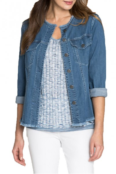 Nic+Zoe - Easy Of Mind Denim Jacket - Medium Wash