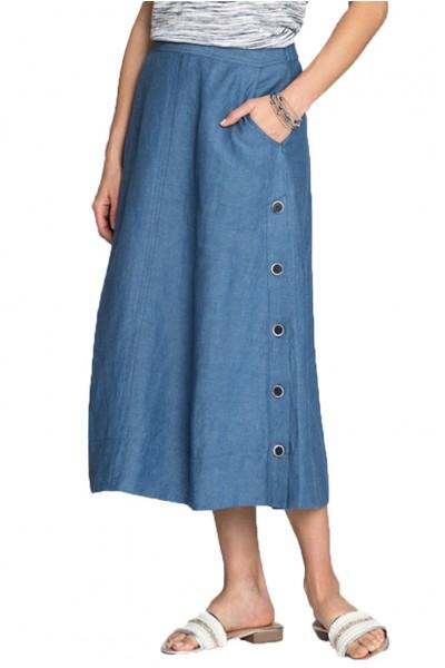 Nic+Zoe - Front Runner Skirt - Blue Mix