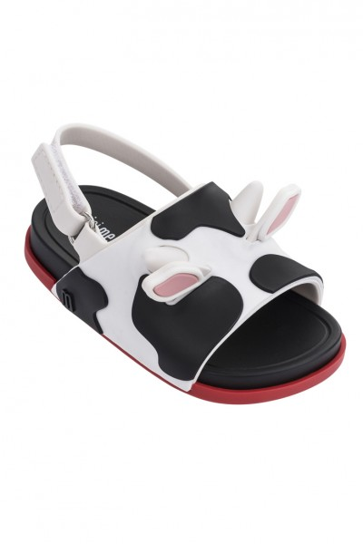 Mini Melissa - Kids Beach Slide Sandal II BB - White Black Red