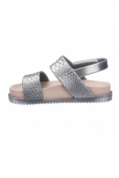 Mini Melissa - Kids Cosmic Sandal + Baja East BB - Silver Pink
