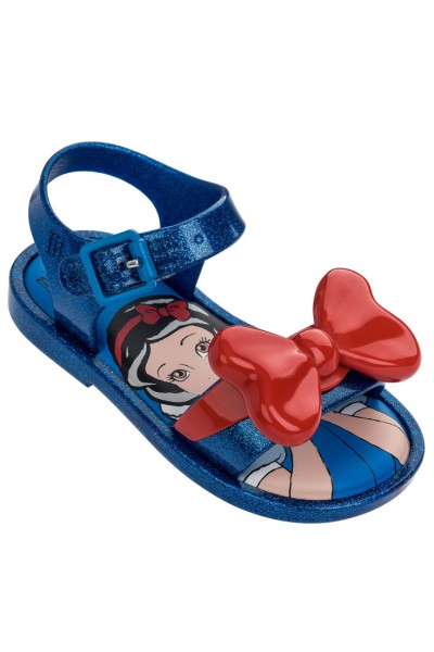 Mini Melissa - Kids Mar Sandal + Snow White BB - Blue Glitter
