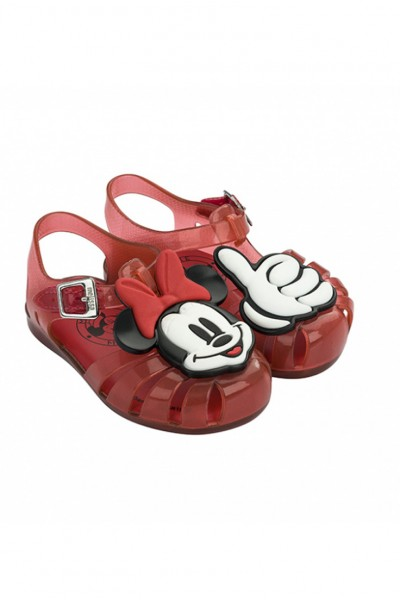 Mini Melissa - Kids Mini Aranha Disney Fun Shoe - Red Minnie