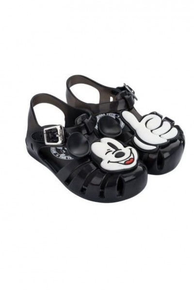 Mini Melissa - Kids Mini Aranha Disney Fun Shoe - Black White