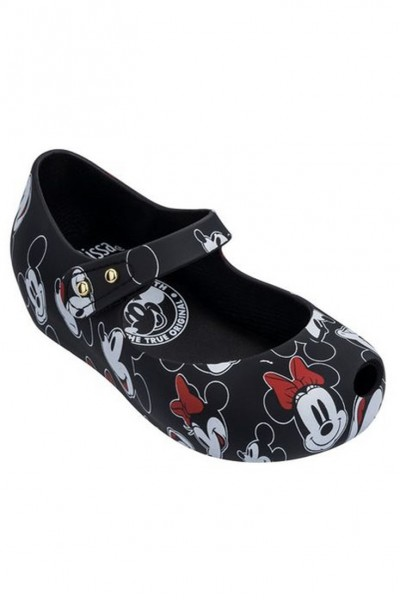 Mini Melissa - Kids Ultragirl + Micky BB - Black White Red