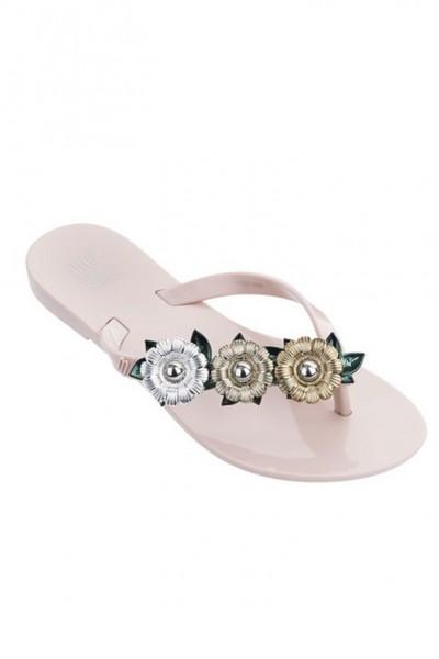 Mini Melissa - Kids Mel Harmonic Garden Chrome Inf - Pink Green Silver