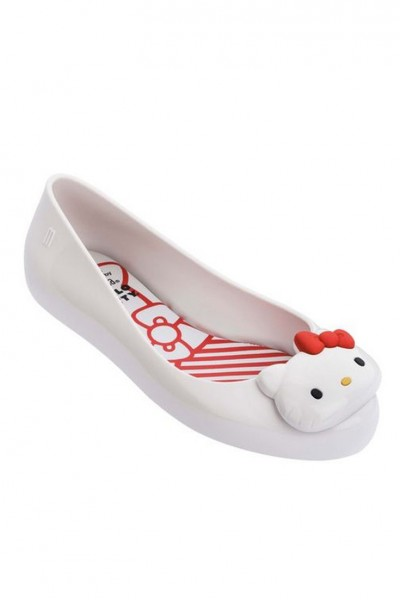 Mini Melissa - Kids Mel Space Love + Hello Kitty Inf - White Red