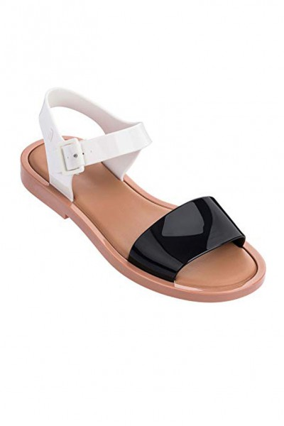 Melissa - Women's Mar Sandal Ad - Brown White Black