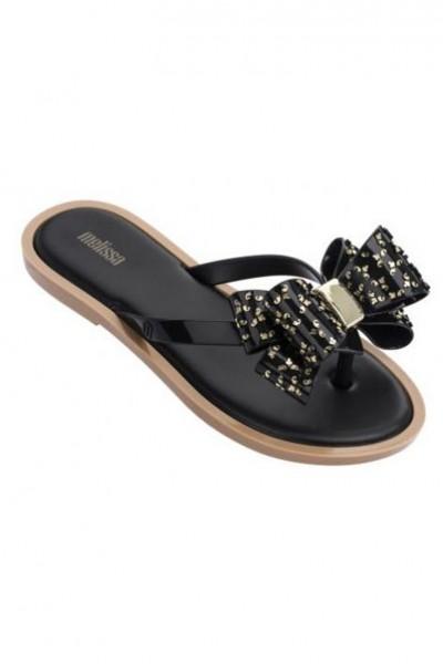 Melissa - Women's Flip Flop Sweet Ad - White Black