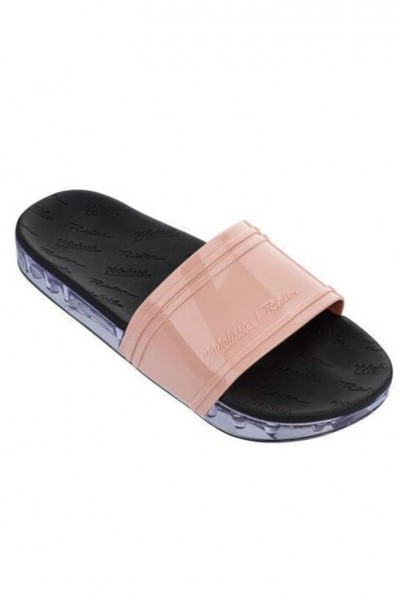 Melissa - Women's Slide + Rider Ad - Pink Black Clear