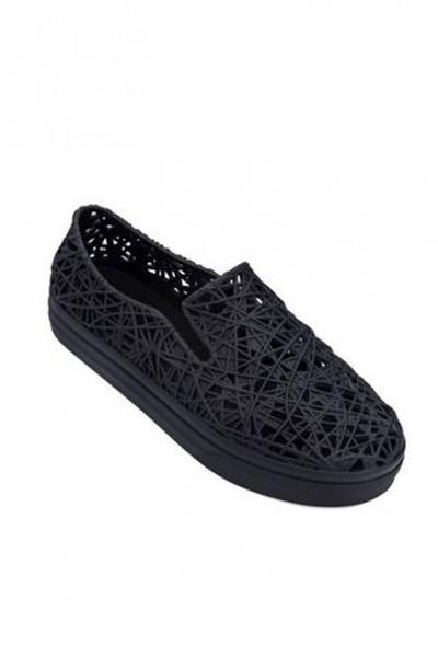 Melissa - Women's Campan Sneaker  Ad - Black White