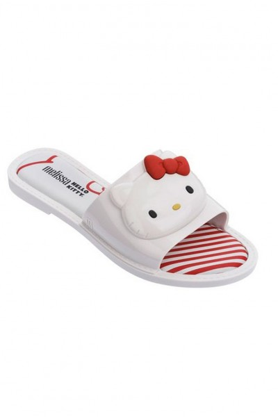 Melissa - Women's Slipper + Hello Kitty Ad - White Red