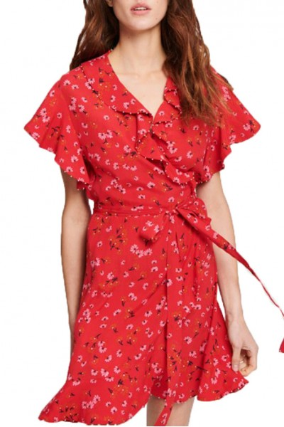 Tara Jarmon - SP19A - Daisy Print On Viscose Crepe Dress - 200-Rouge