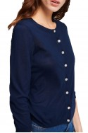 Tara Jarmon - SP19A - Light Cotton Cardigan - 891-Bleu Nuit
