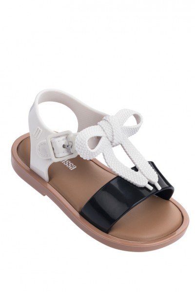 Mini Melissa - Kids Mar Sandal BB - Black White Gloss