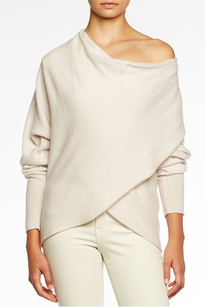 Brochu Walker - Clea Wrap Sweater - Pale Blanche