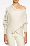Brochu Walker - Clea Wrap Sweater - Pale Blanche