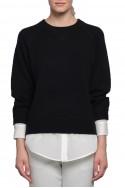 Brochu Walker - SP19A - Layered Sweatshirt - Black Onyx White