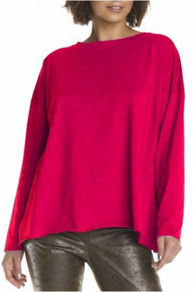Planet - Boxy T Top - Fuchsia
