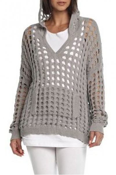 Planet - Crochet Hoodie - Pebble