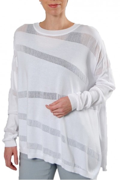 Planet - Illusion Knit Sweater - White