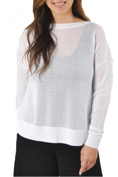 Planet - Mini Seed Stitch Sweater - White