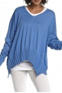 Planet - V Ribbed Sweater - Peri