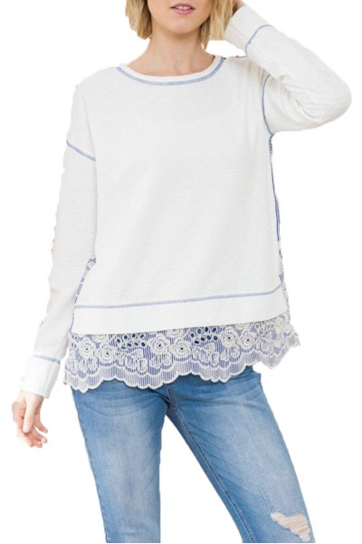 Mystree - Top - Off White Blue
