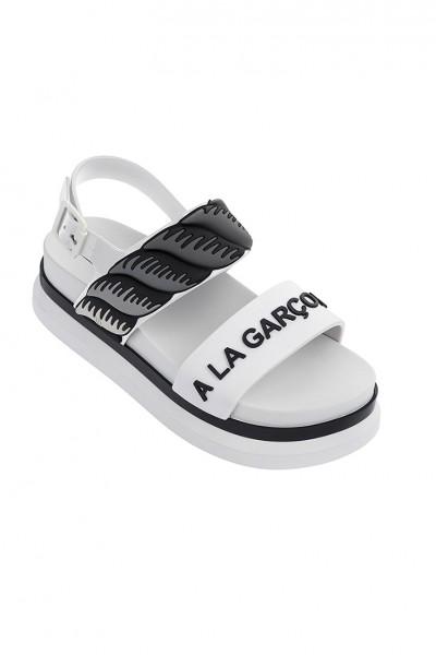 Melissa - Women's Cosmic Sandal II + A La Garconne Ad - Black White