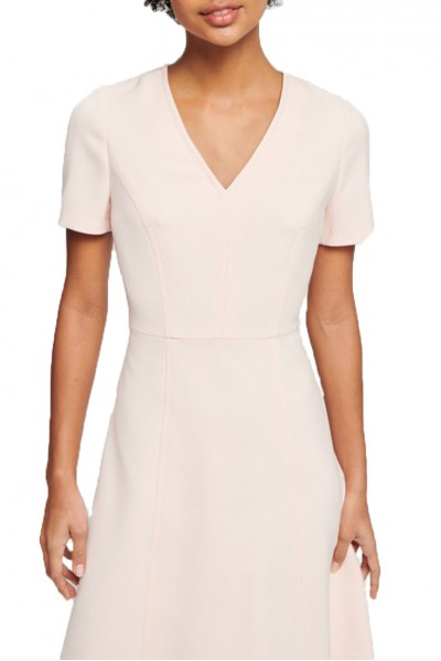 Tara Jarmon - Double Cloth Dress - 350-Rose Pale