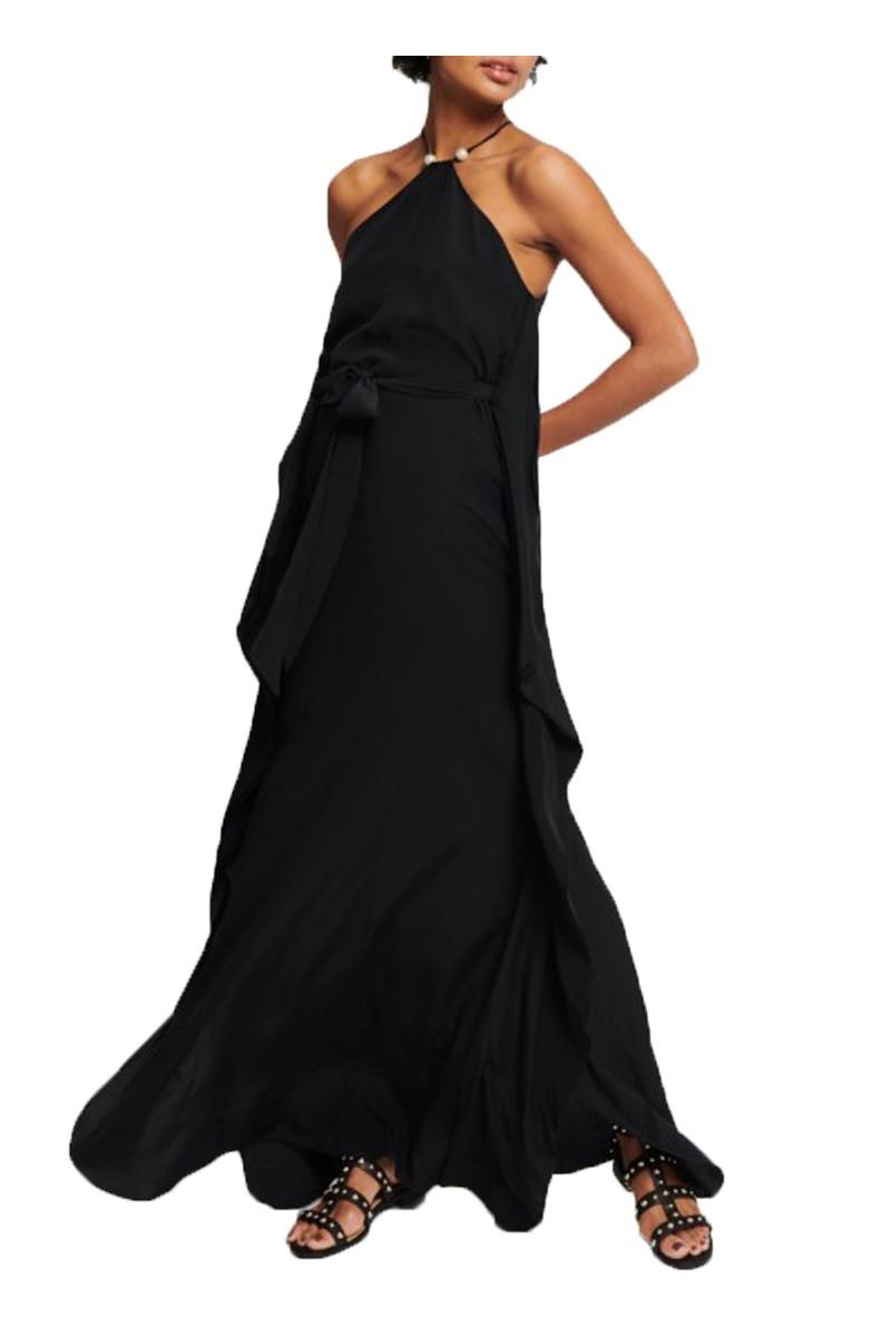 Tara Jarmon - Silk Crepe De Chine Dress - 99-Noir