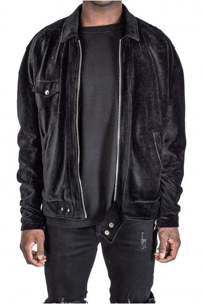 Kollar - Men's Corduroy Jacket -Black