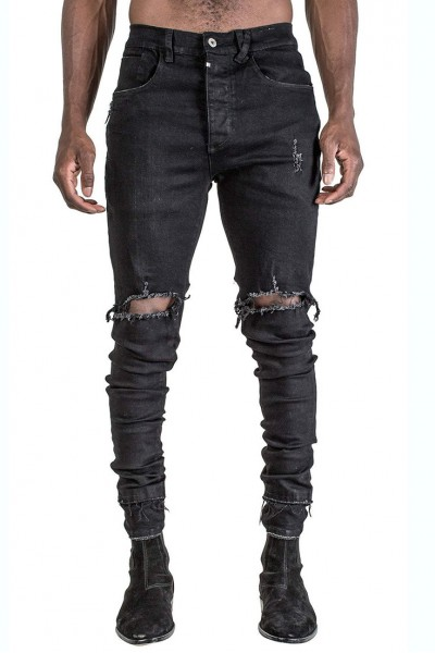 Kollar - Men's Double Stack Denim - Black