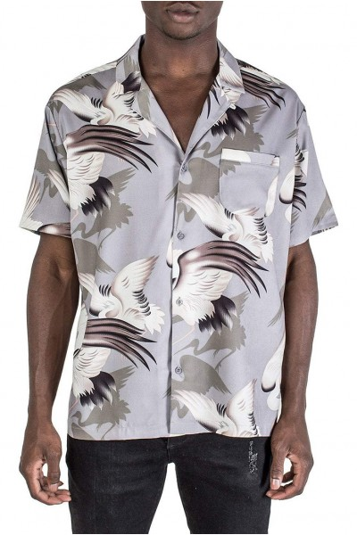 Kollar - Men's Resort Shirt - Purple Bird