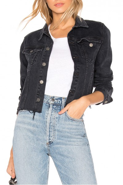 Grlfrnd - Women's Cara Fitted Cropped Jacket - Fly By Night