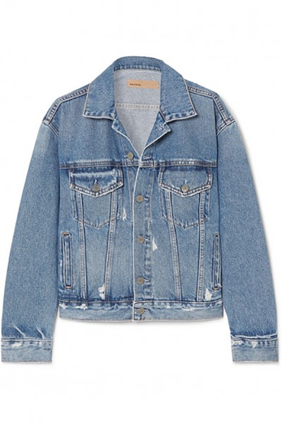 Grlfrnd - Women's Kim distressed denim jacket - Living The Blues