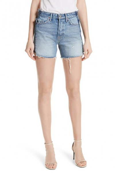 Grlfrnd - Women's Sophie Denim Shorts - Headlines