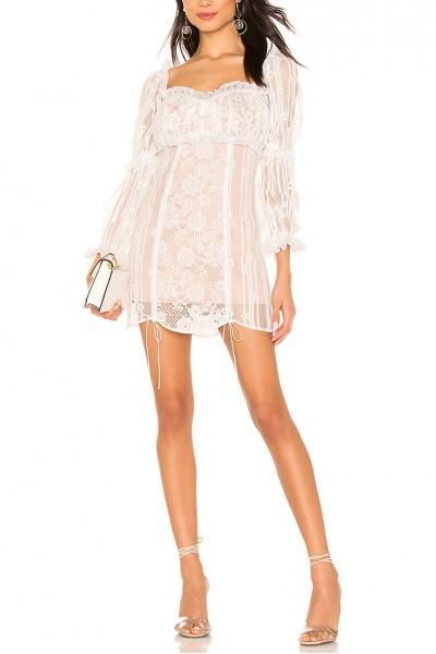 For Love And Lemons - Women's Monroe Mini Dress - White
