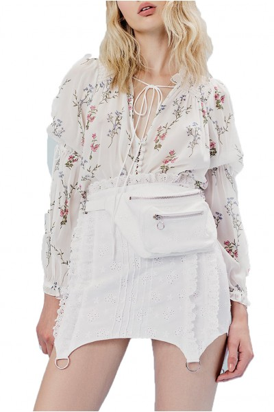 For Love And Lemons - Women's Delta Blouse - Ivory Floral
