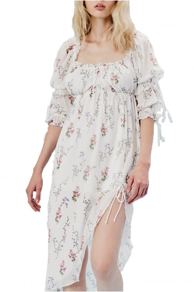 For Love And Lemons - Women's Nicola Midi Dress - Ivory Floral